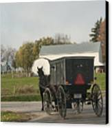 Amish Buggy Canvas Print by David Arment
