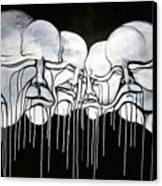 6 Faces Canvas Print by Stephen  Barry