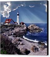 Portland Head Lighthouse Canvas Print by Skip Willits