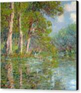 A Bend In The Eure Canvas Print by Gustave Loiseau