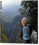 A Boy And His Dog Canvas Print by Robert Meanor