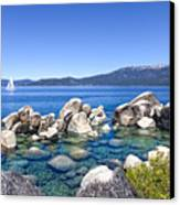A Day At The Lake Canvas Print by Janet Fikar
