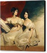 A Double Portrait Of The Fullerton Sisters Canvas Print by Sir Thomas Lawrence