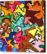 A Face In The Crowd Canvas Print by Jame Hayes