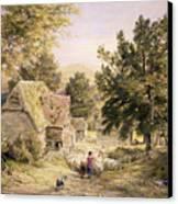 A Farmyard Near Princes Risborough Canvas Print by Samuel Palmer