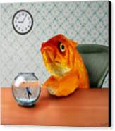A Fish Out Of Water Canvas Print by Carrie Jackson