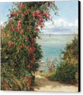 A Garden By The Sea  Canvas Print by Frank Topham