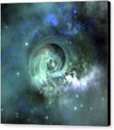 A Gorgeous Nebula In Outer Space Canvas Print by Corey Ford