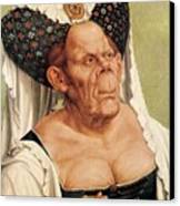 A Grotesque Old Woman Canvas Print by Quentin Massys