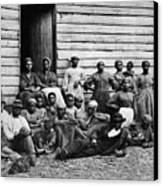 A Group Of Slaves Canvas Print by Photo Researchers