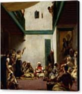A Jewish Wedding In Morocco Canvas Print by Ferdinand Victor Eugene Delacroix