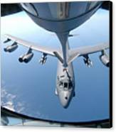 A Kc-135 Stratotanker Refuels A B-52 Canvas Print by Stocktrek Images
