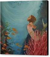 A Mermaid's Journey Canvas Print by Amira Najah Whitfield