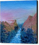 A Mighty River Canyon Canvas Print by Jera Sky