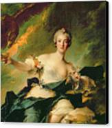 A Portrait Of Anne Josephe Bonnnier De La Mossau  Canvas Print by Jean Marc Nattier