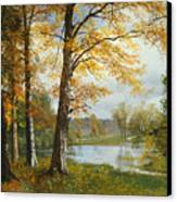 A Quiet Lake Canvas Print by Albert Bierstadt