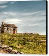 A Shack On The Aran Islands Canvas Print by Natasha Bishop