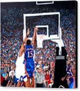 A Shot To Remember - 2008 National Champions Canvas Print by Tom Roderick