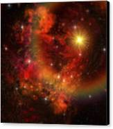 A Star Explodes Sending Out Shock Waves Canvas Print by Corey Ford