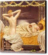 A Summer Night Canvas Print by Albert Joseph Moore
