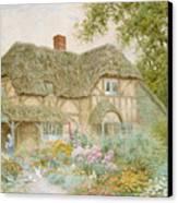 A Surrey Cottage Canvas Print by Arthur Claude Strachan