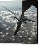 A U.s. Air Force Kc-10 Refuels A B-1b Canvas Print by Stocktrek Images
