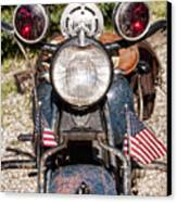 A Very Old Indian Harley-davidson Canvas Print by James BO  Insogna