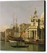 A View Of The Dogana And Santa Maria Della Salute Canvas Print by Antonio Canaletto