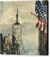 A Watercolor Sketch Of New York Canvas Print by Dirk Dzimirsky