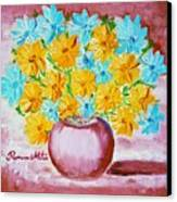 A Whole Bunch Of Daisies Canvas Print by Ramona Matei