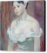 A Young Girl Canvas Print by Berthe Morisot