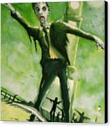 A Zombie In Herne Bay Canvas Print by Paul Mitchell