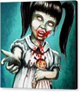 Aaarrgg Thats Zombie Talk For Mommy Canvas Print by Al  Molina