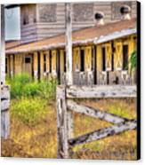Abandoned Horse Stables Canvas Print by Connie Cooper-Edwards