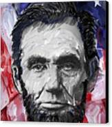 Abraham Lincoln - 16th U S President Canvas Print by Daniel Hagerman