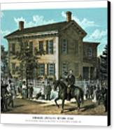 Abraham Lincoln's Return Home Canvas Print by War Is Hell Store