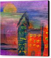 Abstract - Acrylic - Lost In The City Canvas Print by Mike Savad