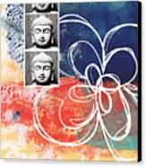 Abstract Buddha Canvas Print by Linda Woods