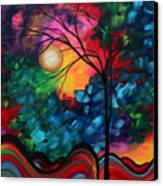 Abstract Landscape Bold Colorful Painting Canvas Print by Megan Duncanson