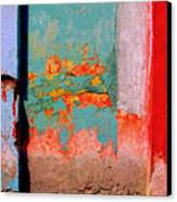 Abstract Wall By Michael Fitzpatrick Canvas Print by Mexicolors Art Photography