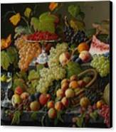 Abundant Fruit Canvas Print by Severin Roesen