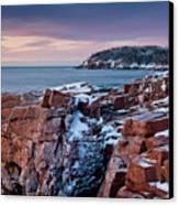 Acadian Cliffs Winter Sunrise 1 Canvas Print by Susan Cole Kelly