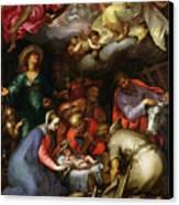 Adoration Of The Shepherds Canvas Print by Abraham Bloemaert