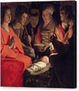 Adoration Of The Shepherds Canvas Print by Georges de la Tour
