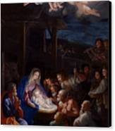 Adoration Of The Shepherds Canvas Print by Guido Reni