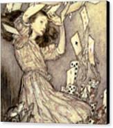 Adventures In Wonderland Canvas Print by Arthur Rackham