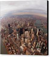 Aerial View Of City Canvas Print by Eric Bowers Photo