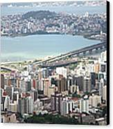 Aerial View Of Florianópolis Canvas Print by DircinhaSW