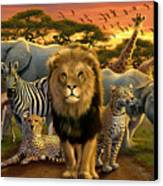African Beasts Canvas Print by Andrew Farley