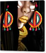 African Princess Canvas Print by Kia Kelliebrew